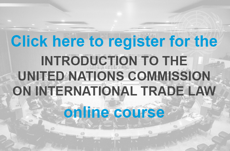 UNCITRAL delegates with link to register for online modules
