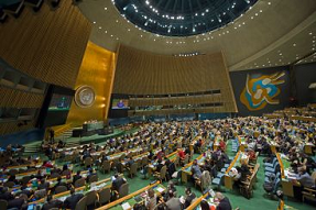 General Assembly Hall at the United Nations Headquarters in New York